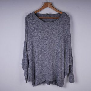 BENCH Dolman Sleeve Charcoal Gray Knit Sweater